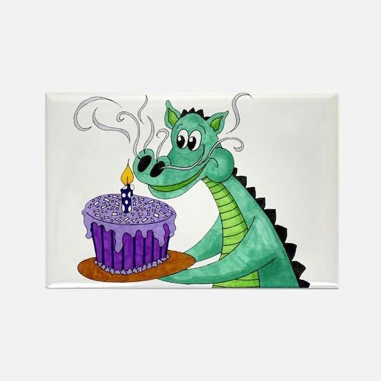 Birthday Dragon Rectangle Magnet