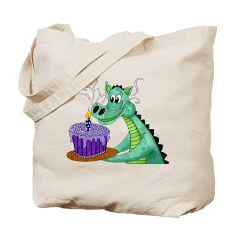 Birthday Dragon Tote Bag