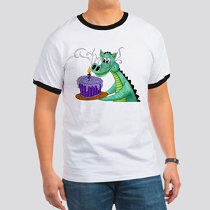 Birthday Dragon Ringer T