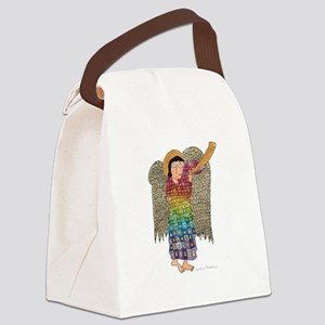 Rainbow Angel 2 Canvas Lunch Bag