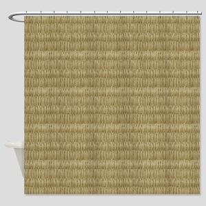 8 Bit Pixel Tatami Mat Shower Curtain