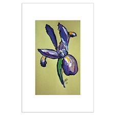 Iris Flower Art Painting Posters