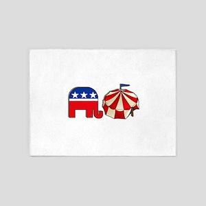 USA Republican Circus 5'x7'Area Rug