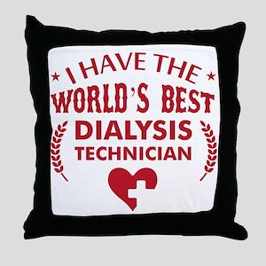 Dialysis Technician Throw Pillow