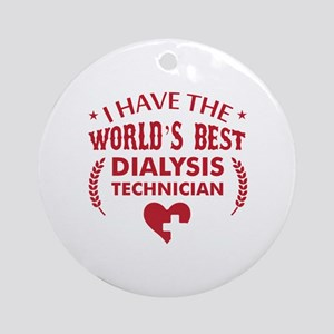 Dialysis Technician Round Ornament