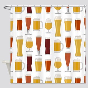 Beer Lover Print Shower Curtain
