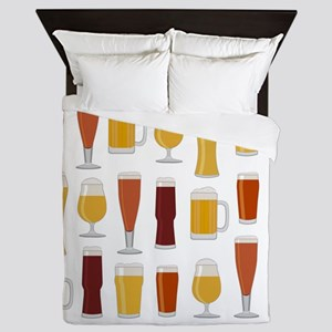 Beer Lover Print Queen Duvet