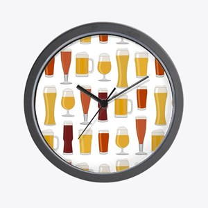 Beer Lover Print Wall Clock