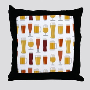 Beer Lover Print Throw Pillow