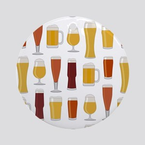 Beer Lover Print Round Ornament