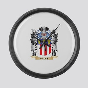 Dales Coat of Arms - Family Crest Large Wall Clock