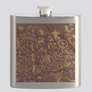 Newspaper Rock Petroglyph Ancient Art Flask
