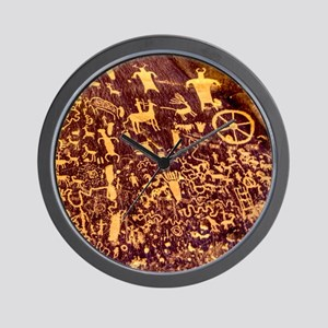 Newspaper Rock Petroglyph Ancient Art Wall Clock