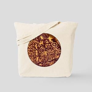 Newspaper Rock Petroglyph Ancient Art Tote Bag