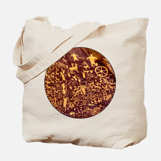 Newspaper Rock Petroglyph Ancient Art Tote Bag