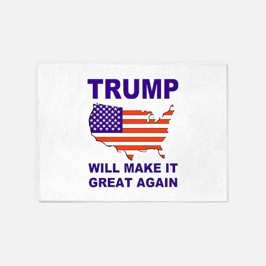 Trump will make it great again 5'x7'Area Rug