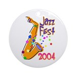 Jazz Fest Ornament (Round)
