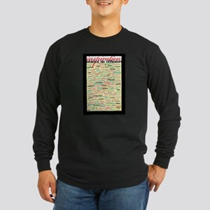 French Brainstorming Poster Long Sleeve Dark T-Shi