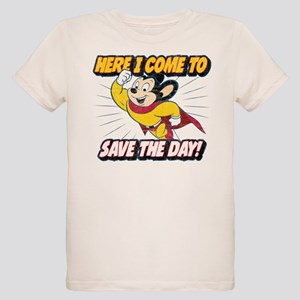 Here I Come To Save The Day Organic Kids T-Shirt