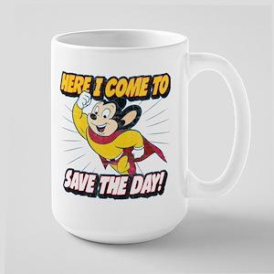 Here I Come To Save The D 15 oz Ceramic Large Mug