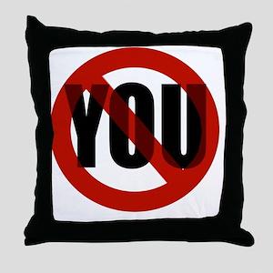 Antisocial - No You Throw Pillow