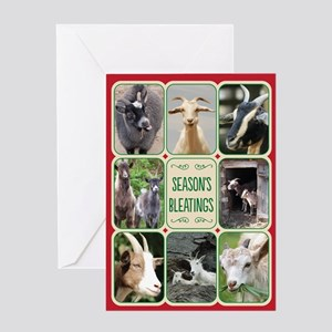 Season's Bleatings/Goat Christm Greeting Cards