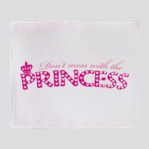 dontmesswithprincess Throw Blanket