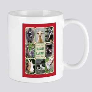 Season's Bleatings/Goat Christmas Mugs