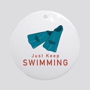 Just Keep Swimming Ornament (Round)