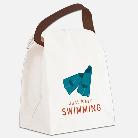 Just Keep Swimming Canvas Lunch Bag