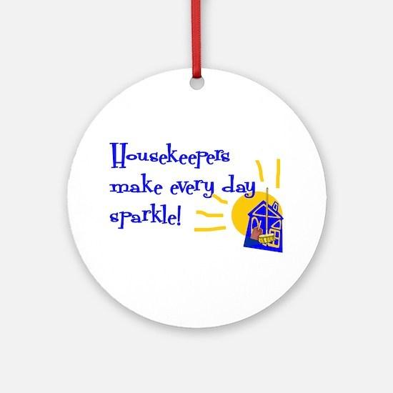 Housekeeper Appreciation Ornament (Round)