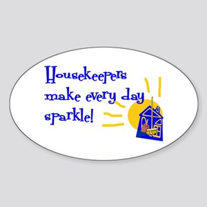 Housekeeper Appreciation Oval Sticker