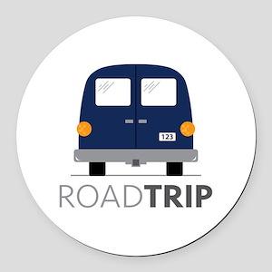 Road Trip Round Car Magnet