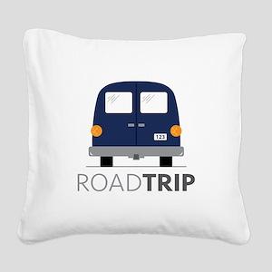 Road Trip Square Canvas Pillow