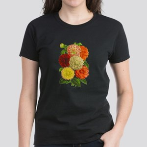 Summer Dahlias Women's Dark T-Shirt