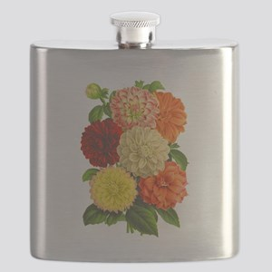 Summer Dahlias Flask