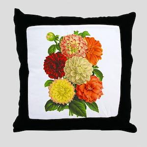 Summer Dahlias Throw Pillow