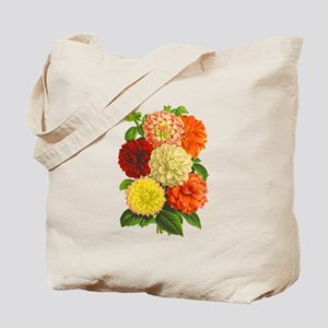 Summer Dahlias Tote Bag
