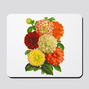 Summer Dahlias Mousepad