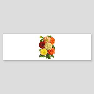 Summer Dahlias Sticker (Bumper)