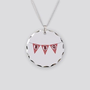 BBQ Gingham Flags Necklace
