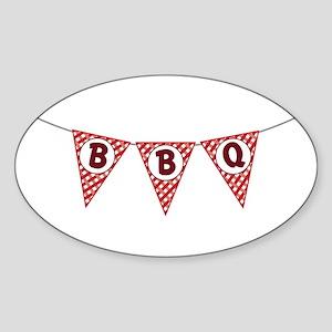BBQ Gingham Flags Sticker