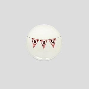 BBQ Gingham Flags Mini Button