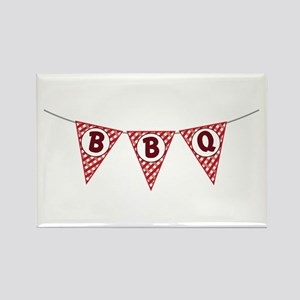 BBQ Gingham Flags Magnets