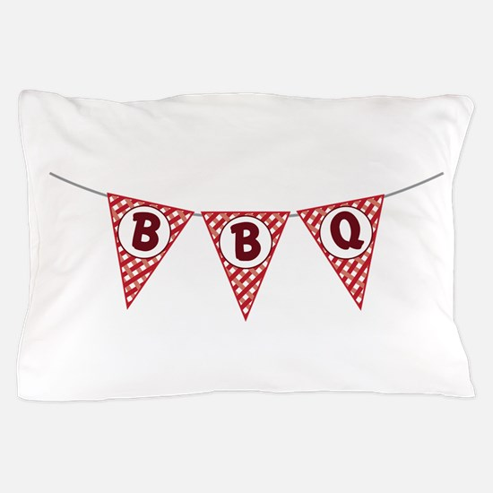 BBQ Gingham Flags Pillow Case