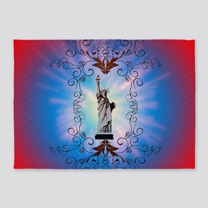 The Statue of Liberty 5'x7'Area Rug