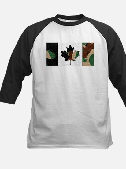 Canadian Flag Camo Brown & Green W Baseball Jersey