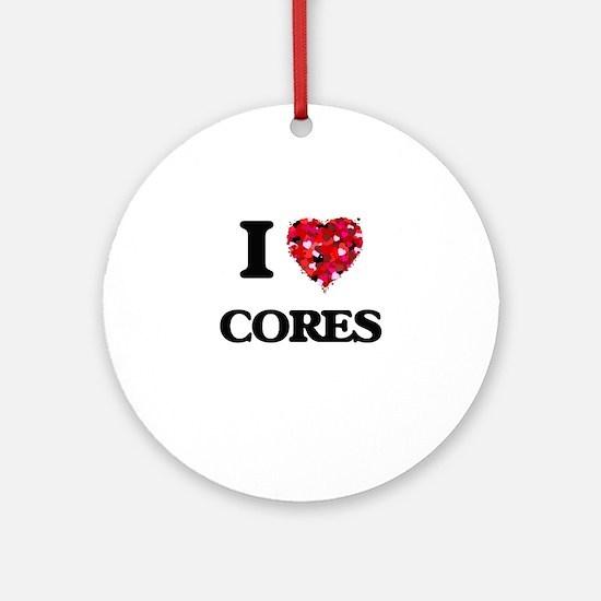 I love Cores Ornament (Round)