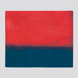 ROTHKO RED AND BLUE Throw Blanket