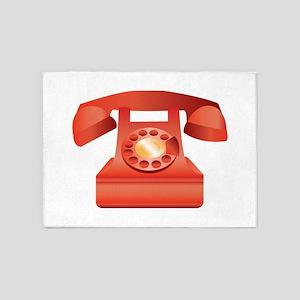 Telephone 5'x7'Area Rug